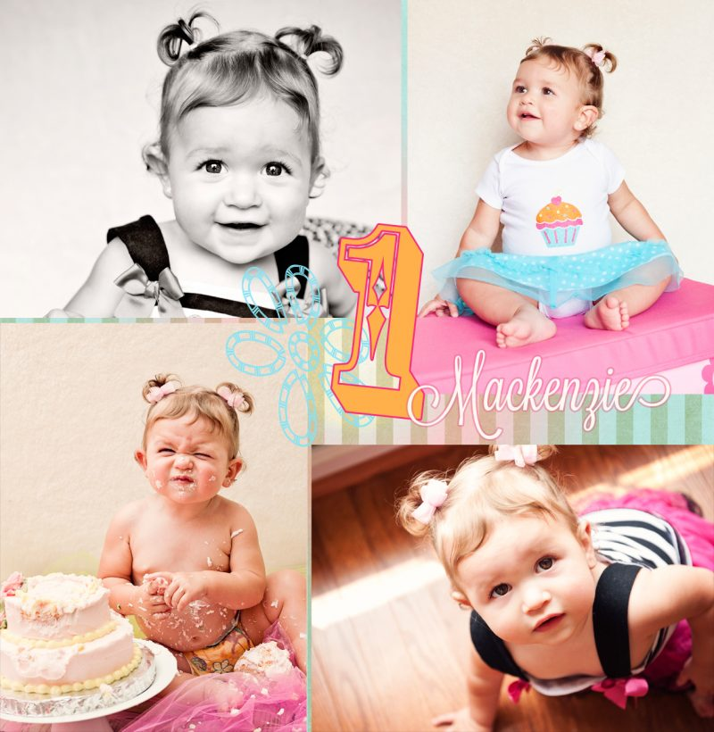 Mackenzie:: First Birthday Photo Shoot & Cake Smash! | Harford County Photographer