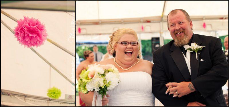 Crystal & Matt:: Harford County Backyard Candy-themed Wedding