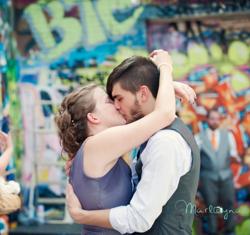 Ellen & Jon:: Graffiti Alley Load of Fun Arts Wedding, Baltimore MD