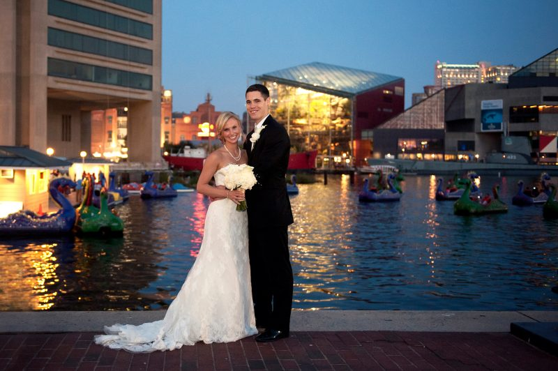 Happy First Anniversary Becky & Keith! | Elegant Fall Baltimore Inner Harbor Hyatt Wedding