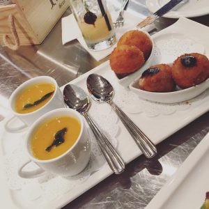 Pumpkin Soup and Croquettes