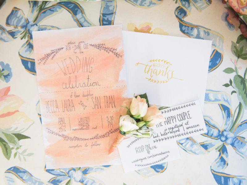 Becca & San's Waverly Mansion Wedding Sneak Peeks