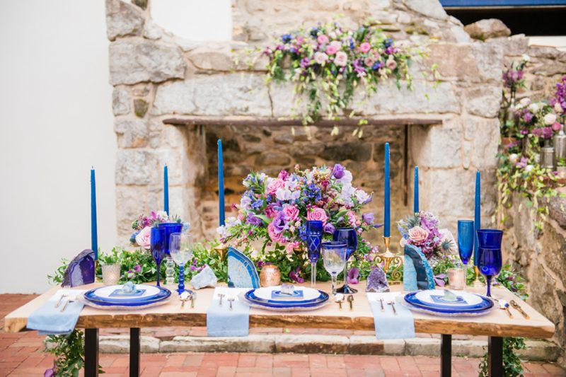Serenity Blue & Cobalt Wedding Inspiration as featured on Charm City Wed