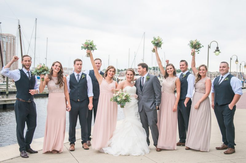 Jessica & Shane's Blush & Book-themed Baltimore Wedding