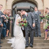 Logan & Marco are married! Sparkly Neutral Fall Wedding in Canton, OH