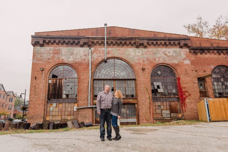 Tracy & Jason | Secret Engagement Session at Clipper Mill Baltimore MD