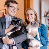 Erika and Billy | At Home DC Engagement Session.. with Cats!