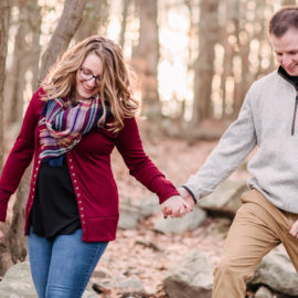 Caroline and Kevin | Christmas Tree Farm Engagement Session